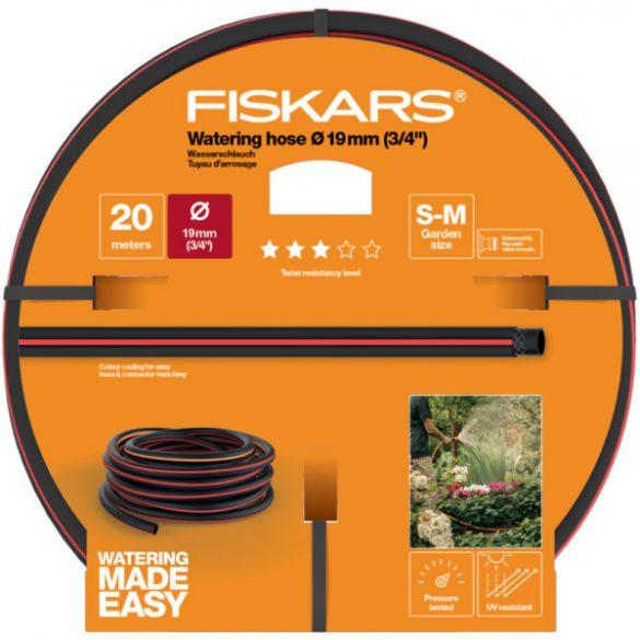 """FISKARS Solid locsolótömlő 19 mm (3/4"""") 20 m Q3 + AJÁNDÉK KULACS"""