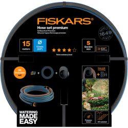 """FISKARS Comfort locsolótömlő + tároló szett 13 mm (1/2"""") 15 m Q4"""