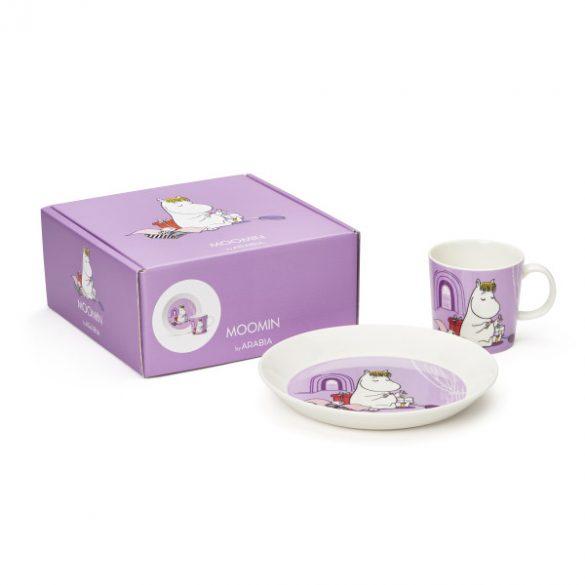 ARABIA MOOMIN tányér & bögre szett, Snorkmaiden, lila