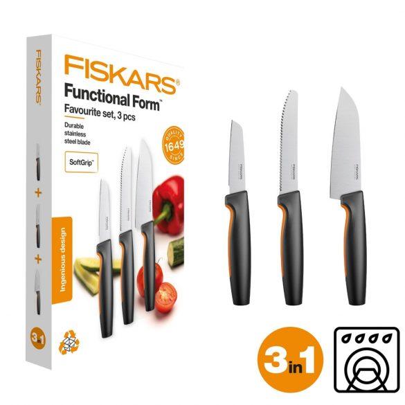 """FISKARS Functional Form """"kedvenc késeim"""" készlet, 3 részes"""